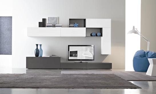 Soggiorno Moderno Grigio E Bianco : Mobile soggiorno moderno bianco parete attrezzata moderna cerca